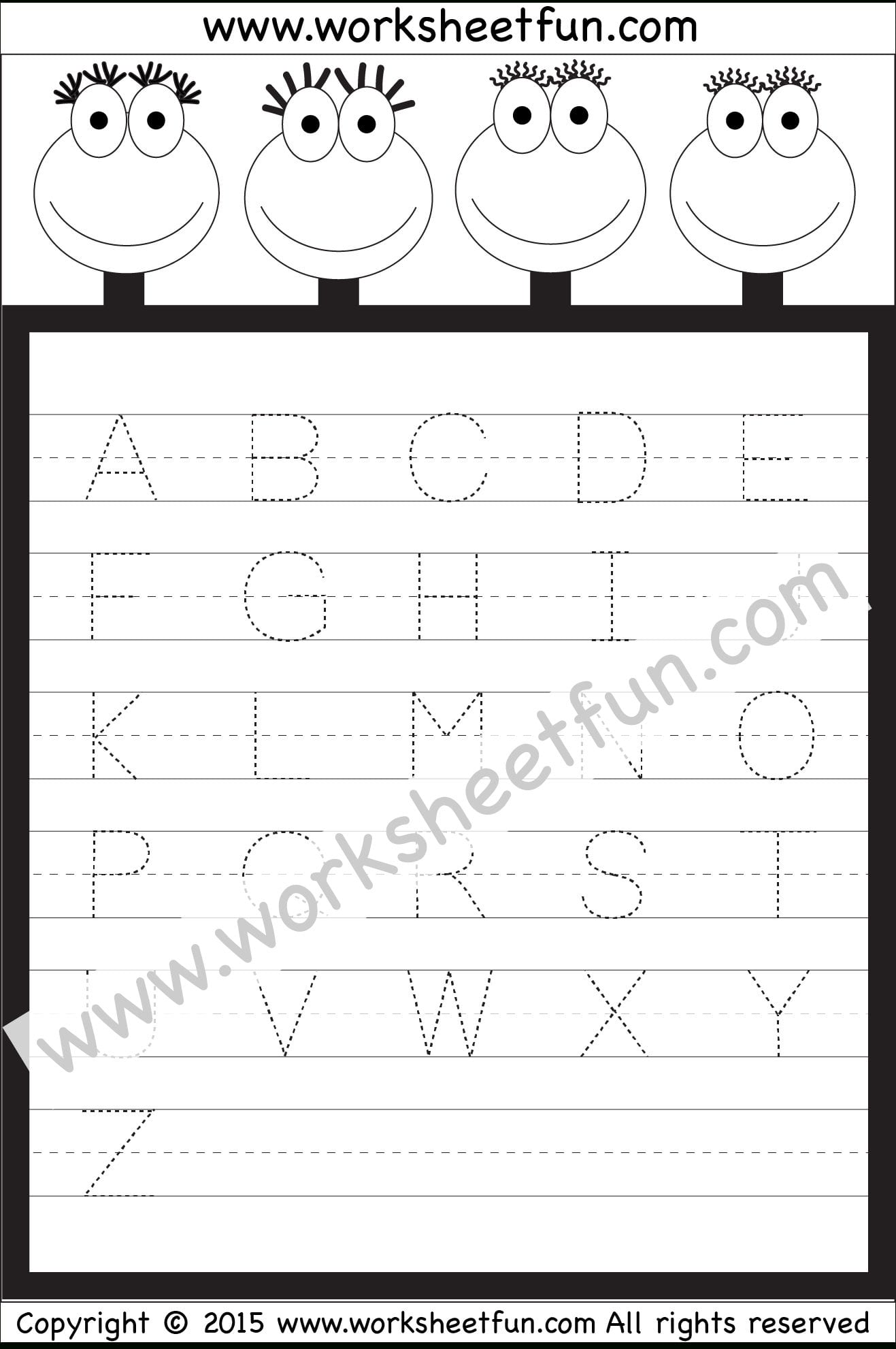 Letter Tracing Worksheet – Capital Letters  Free Printable With Regard To Letter Tracing Worksheets Pdf