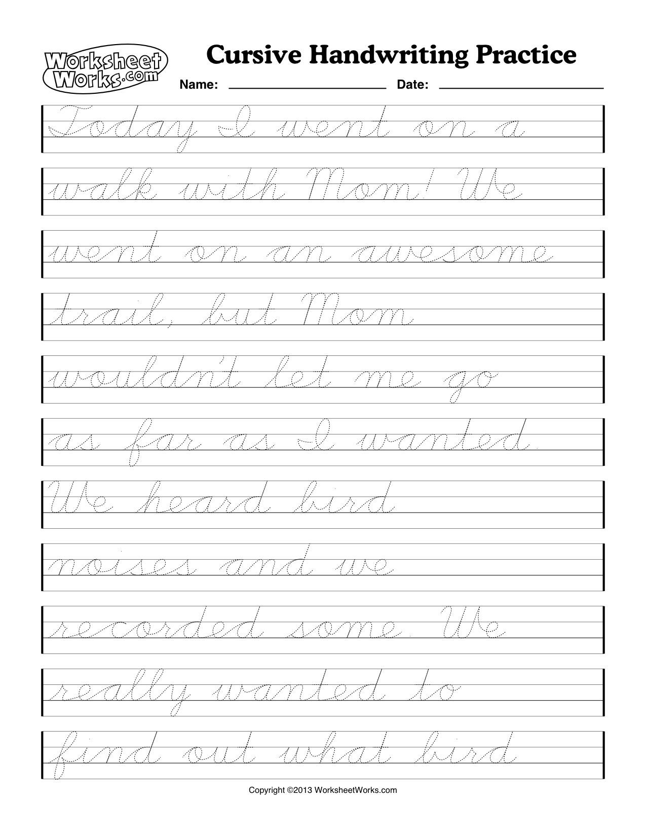 Magnificent Printable Cursive Words Practice Word Sheets In Cursive Alphabet Worksheets Pdf