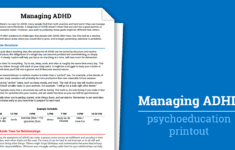 Managing Adhd Worksheet  Therapist Aid or Cbt For Adhd Worksheets