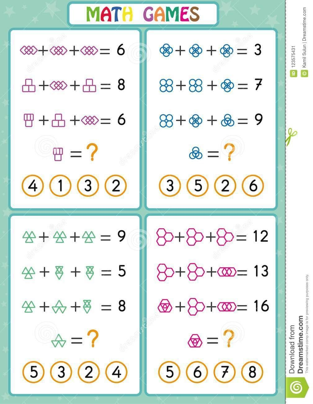 Mathematics Educational Game For Kids Fun Worksheets For Children Along With Fun Worksheets For Kids