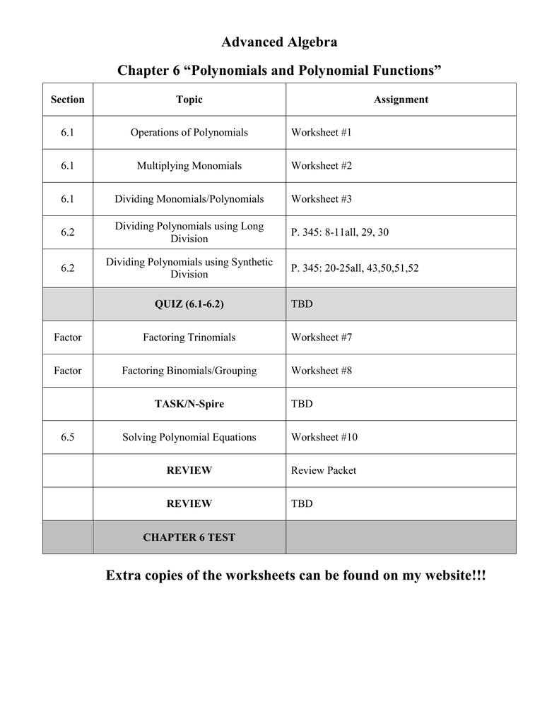 Note Packet In Multiplying Monomials Worksheet