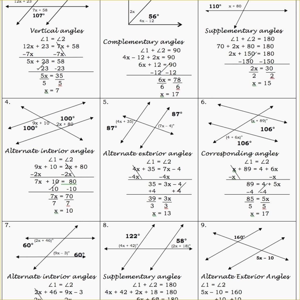 Parallel Lines Cuta Transversal Worksheet Answer Key Within Parallel Lines And Transversals Worksheet Answers