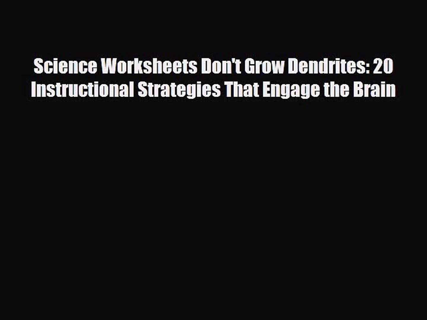 Pdf Download Science Worksheets Don't Grow Dendrites 20 Together With Worksheets Don T Grow Dendrites Pdf