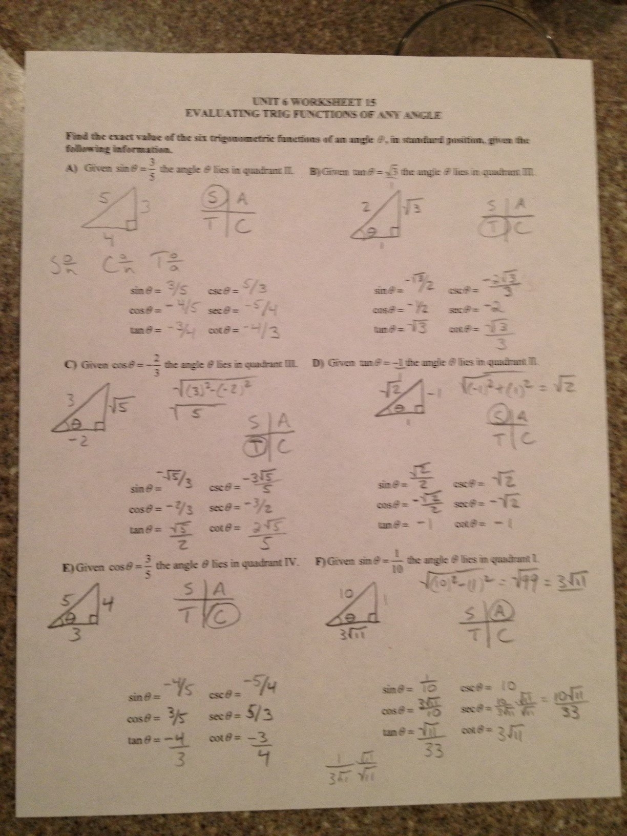 Pfeil Jason  Trigonometry Daily Assignments And Resources Together With Worksheet The Basic 8 Trig Identities