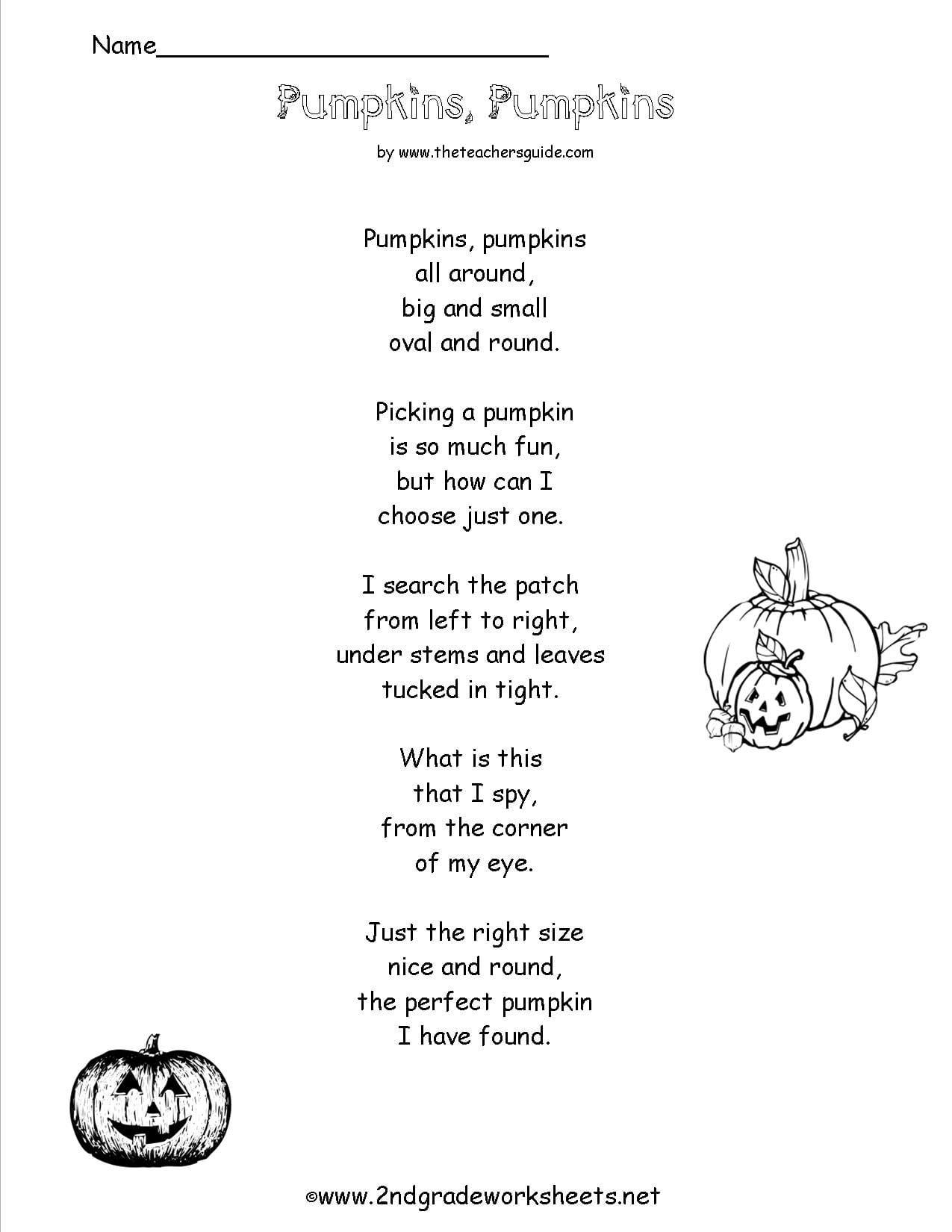 Poem Comprehension Worksheets With Regard To 4Th Grade Poetry Worksheets