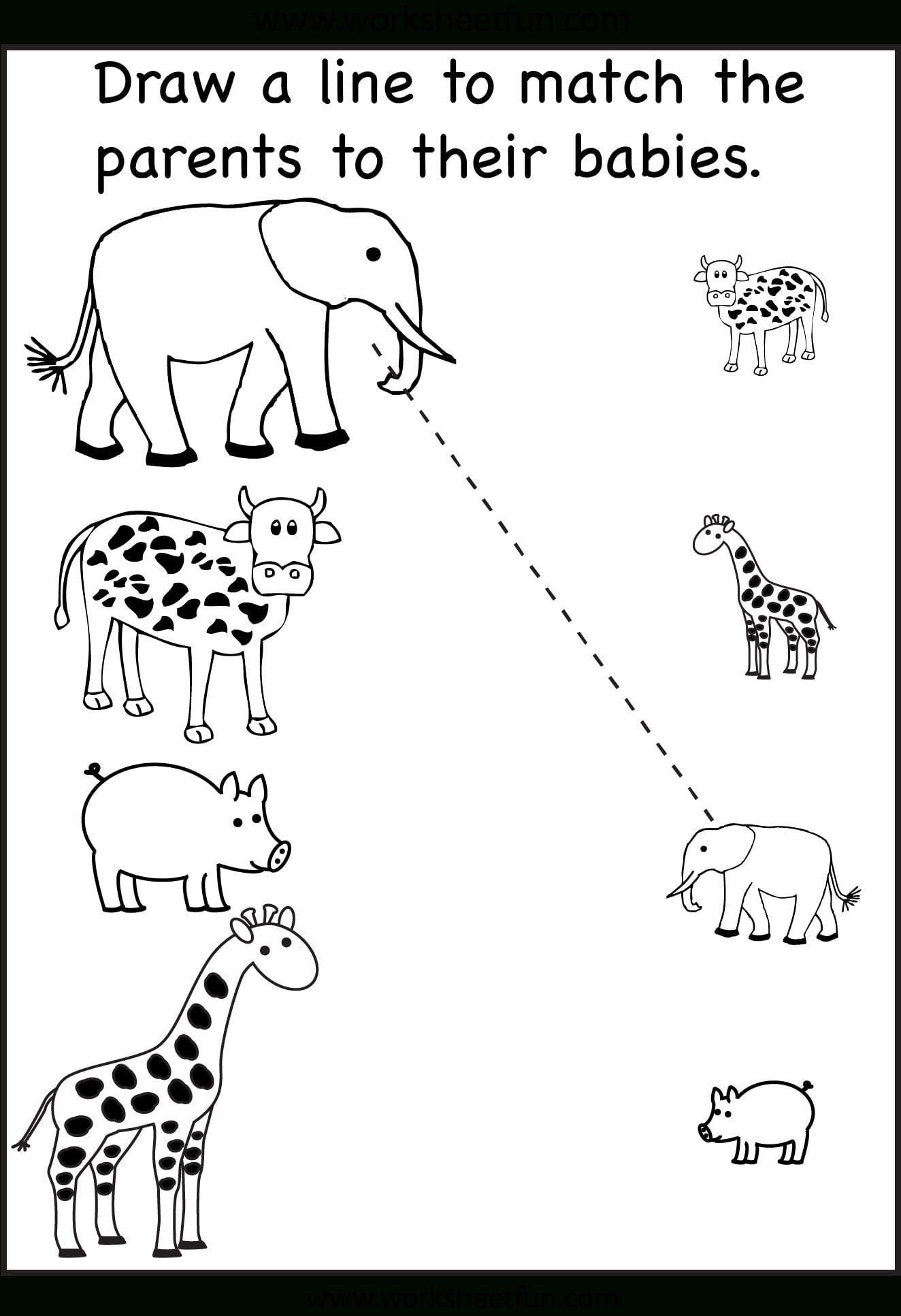 Preschool Matching Worksheets  Free Printable Worksheets – Worksheetfun Intended For Preschool Matching Worksheets