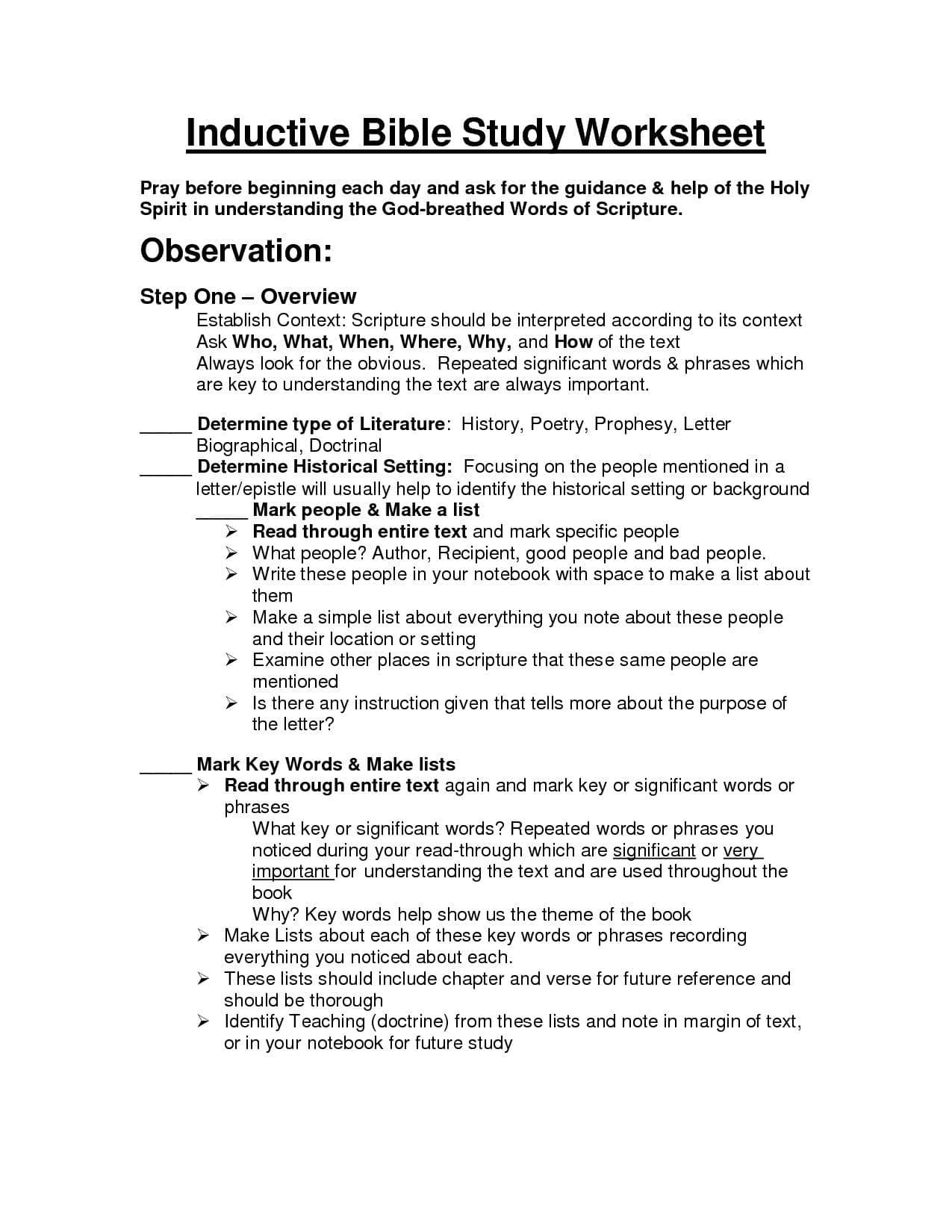 Printable Bible Study Worksheets For Adults Printable Youth Bible Regarding Bible Study Worksheets For Youth