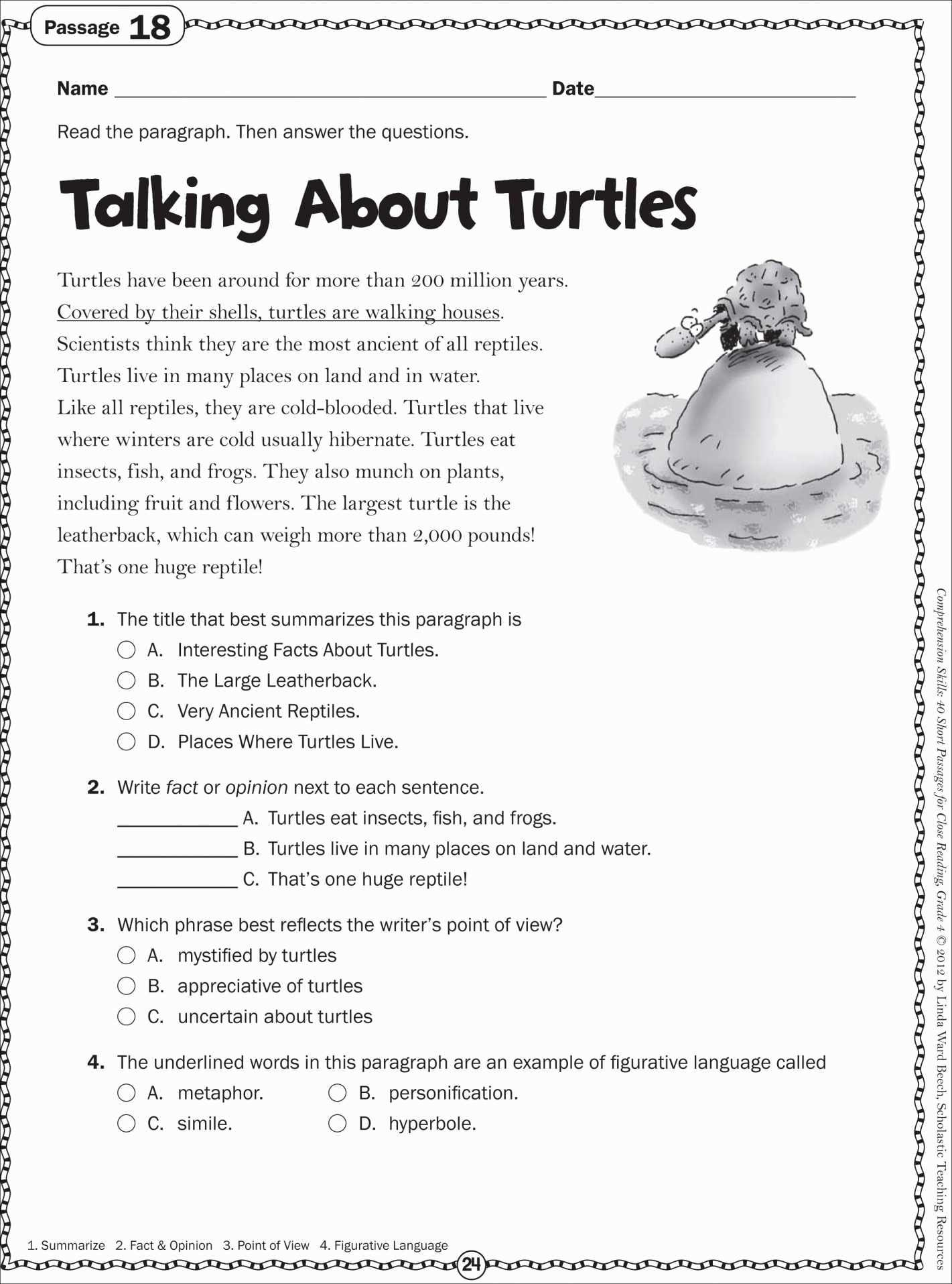 Printable Reading Comprehension Worksheets 10Th Grade – Gsrp And Free Printable Second Grade Reading Comprehension Worksheets
