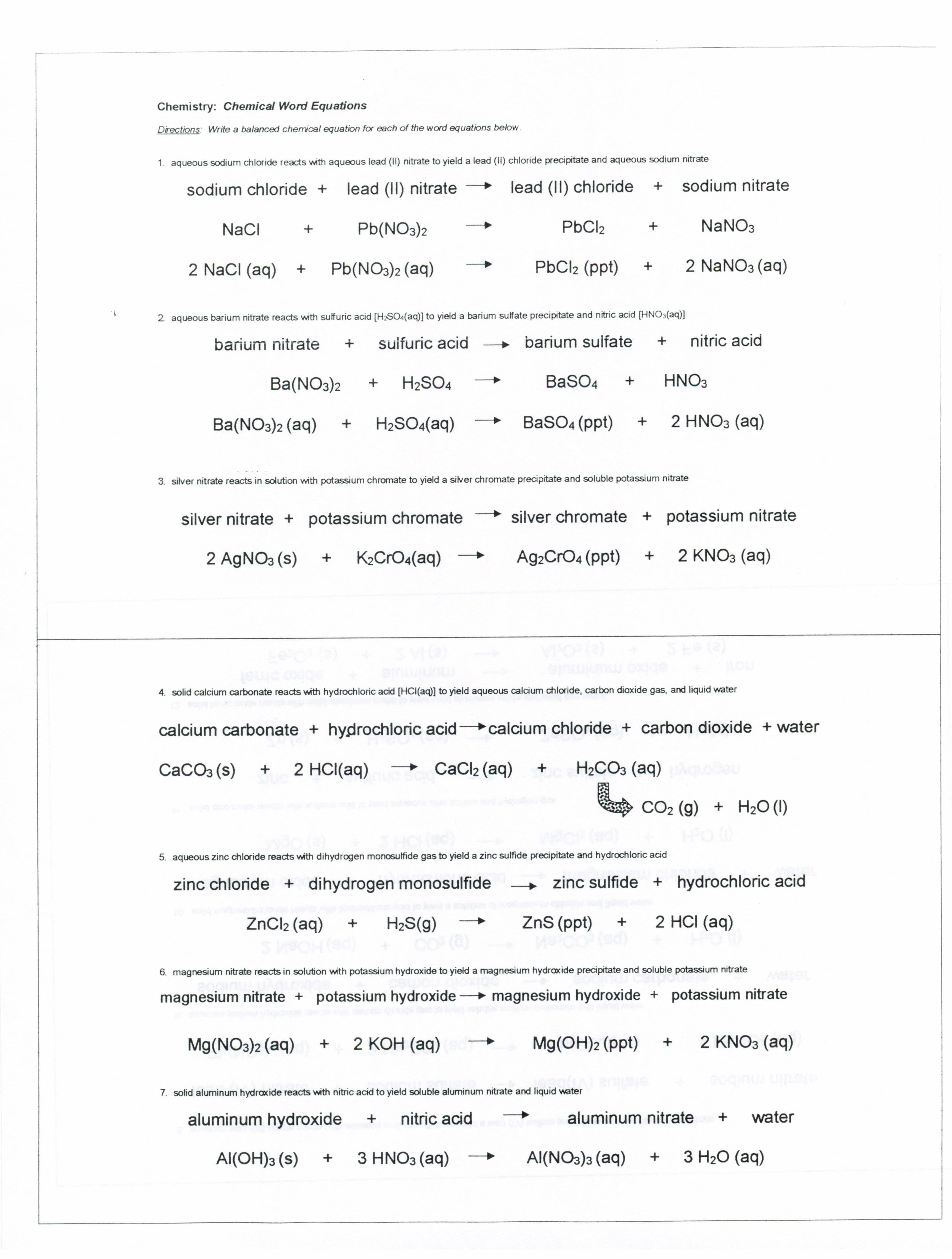 Printables Introduction To Chemistry Worksheet Lemonlilyfestival For Introduction To Chemical Reactions Worksheet