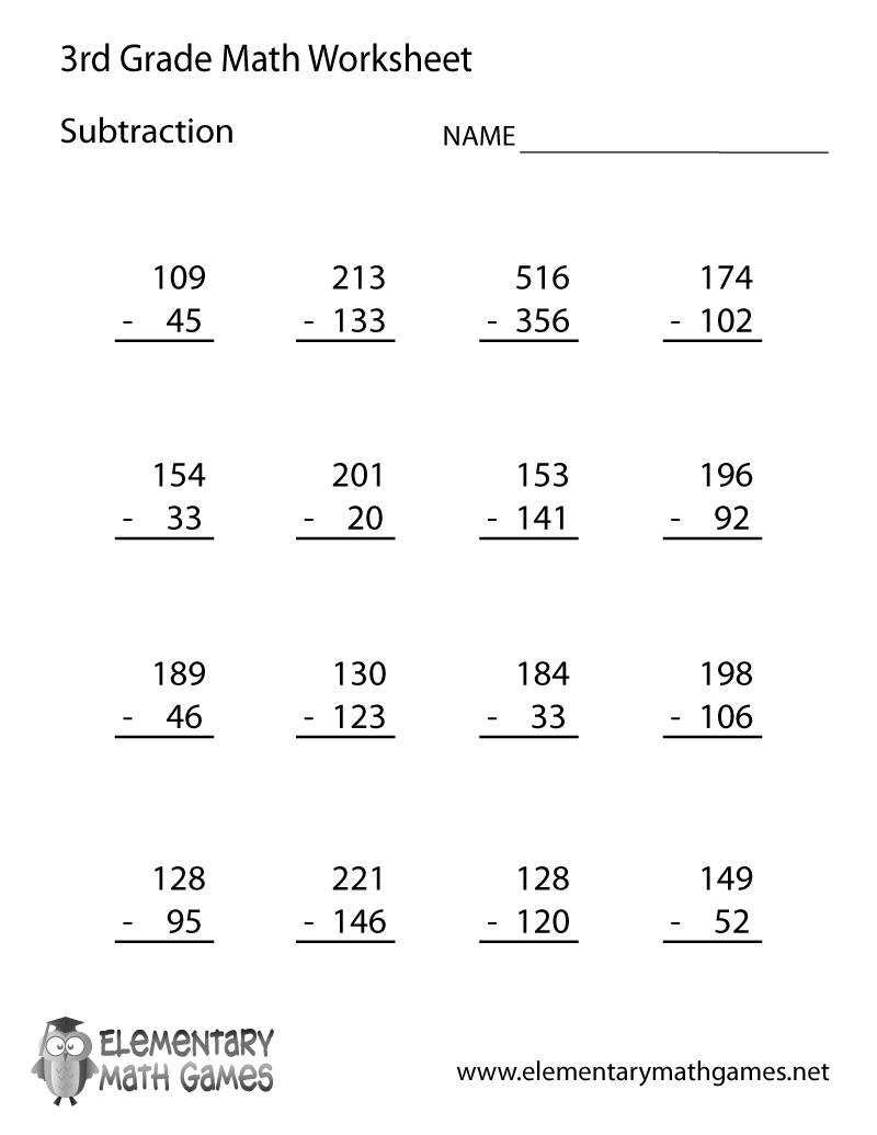 Printables Math Printable Worksheets 3Rd Grade Lemonlilyfestival Together With Math Worksheets For Third Grade Students