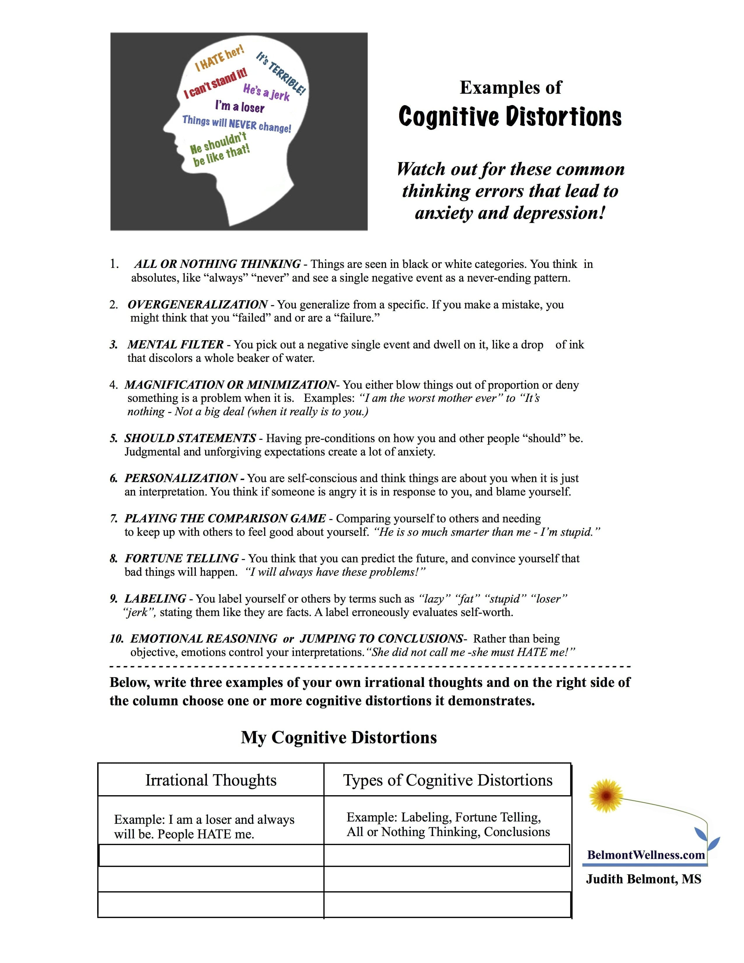 Psychoeducational Handouts Quizzes And Group Activities  Judy As Well As Coping Skills Worksheets For Youth