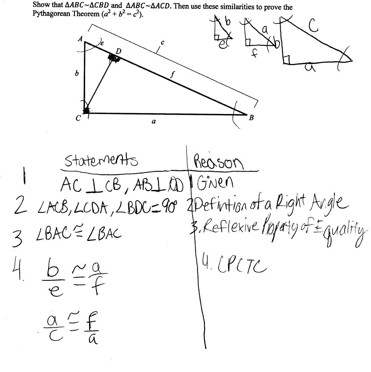 Pythagorean Theorem Proof Students Are Asked To Prove The As Well As Pythagorean Theorem Review Worksheet