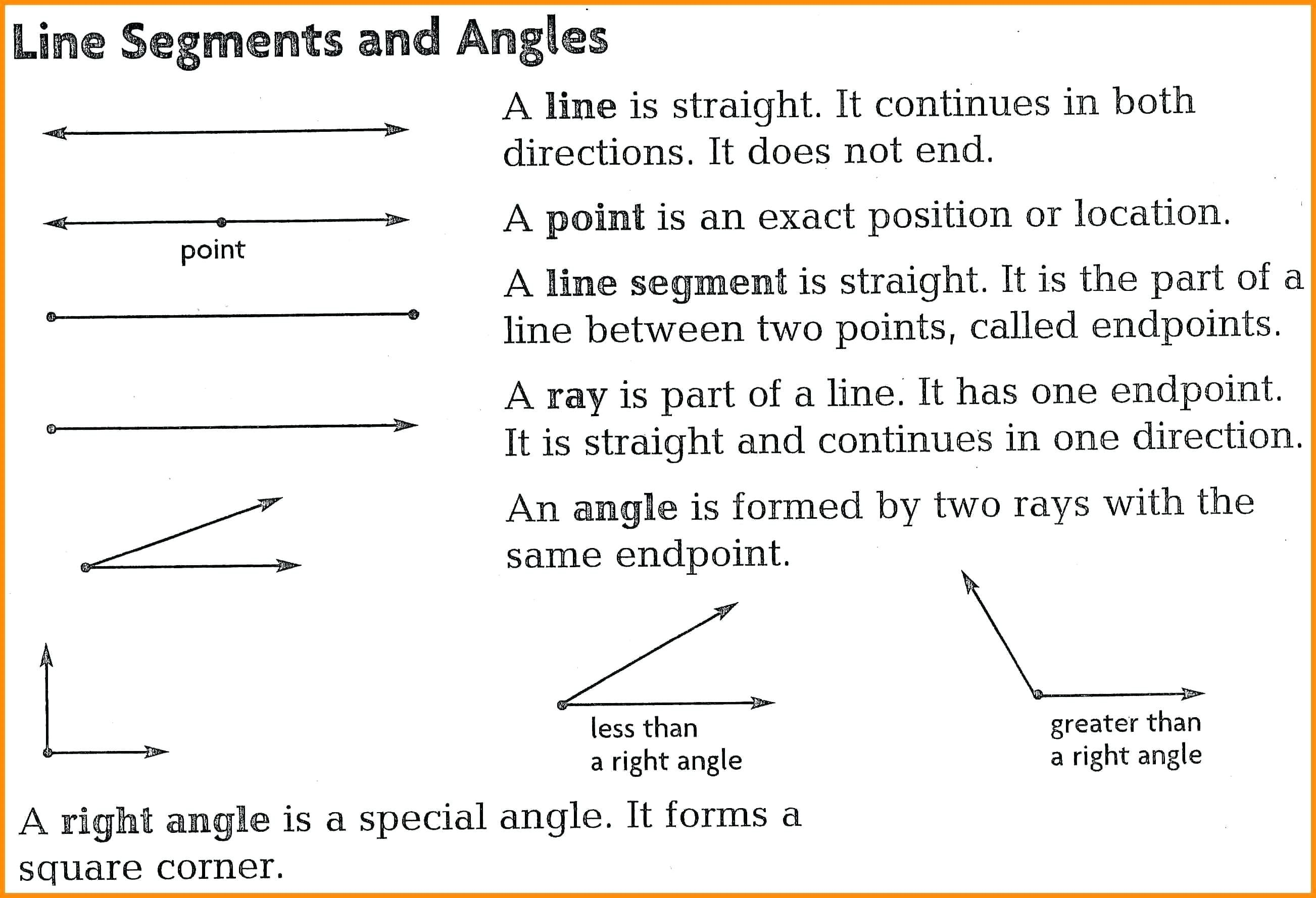 Ray Line Segments Math – Upskillclub And Lines Line Segments And Rays Worksheets