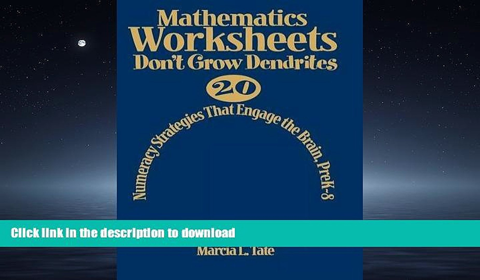 Read Mathematics Worksheets Don T Grow Dendrites 20 Numeracy Regarding Worksheets Don T Grow Dendrites Pdf
