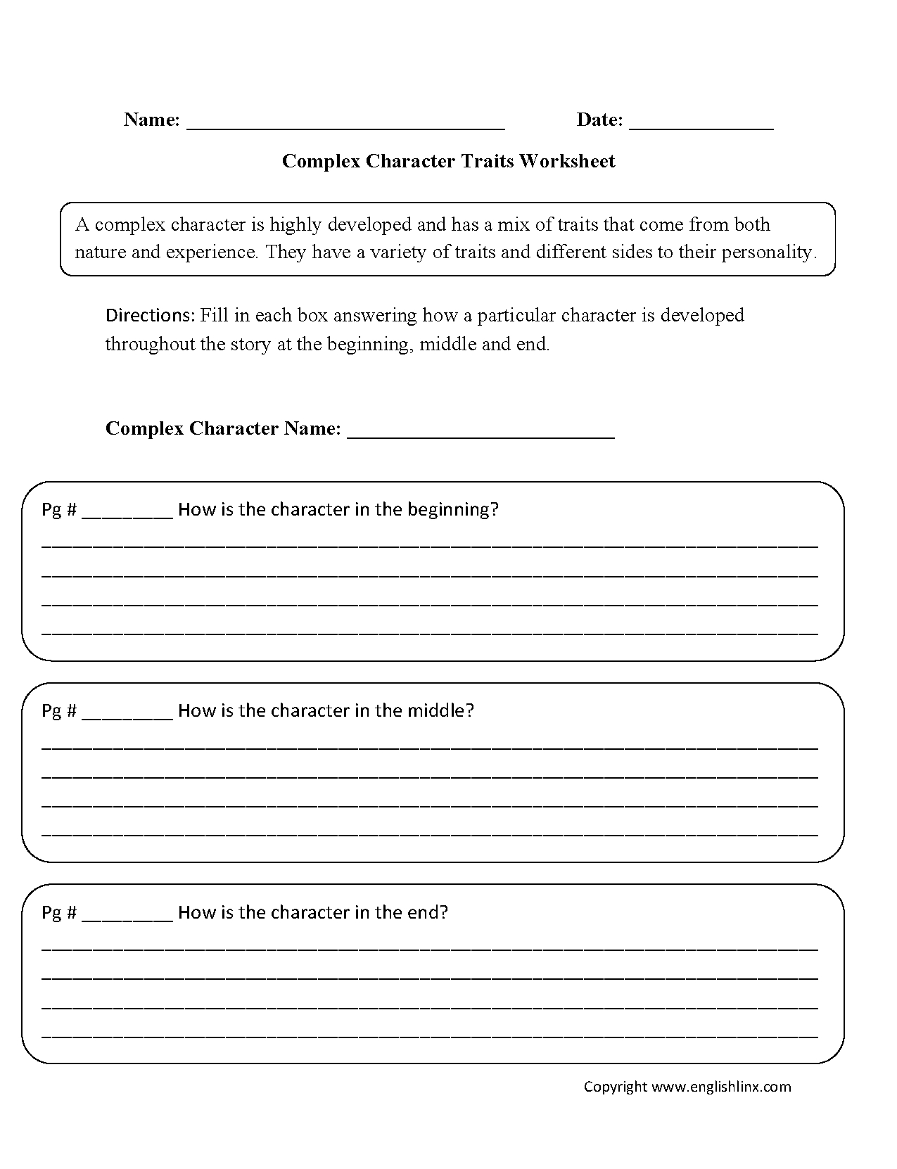 Reading Worksheets  Character Traits Worksheets For Character Traits Worksheet 3Rd Grade