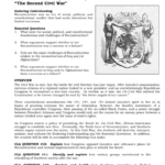 Reconstruction 18651877 The Second Civil War Regarding Radical Republican Reconstruction Worksheet Answers
