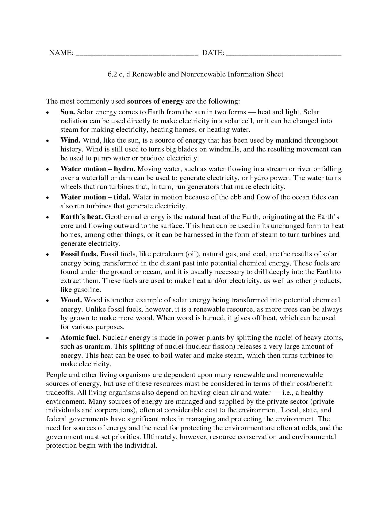 Renewable Energy Renewable Energy Worksheet Regarding Modern Marvels Renewable Energy Worksheet Answers