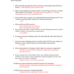 Review Sheet Answers Chapters 6 And 7 Driver Education What As Well As Drivers Ed Signs Worksheet