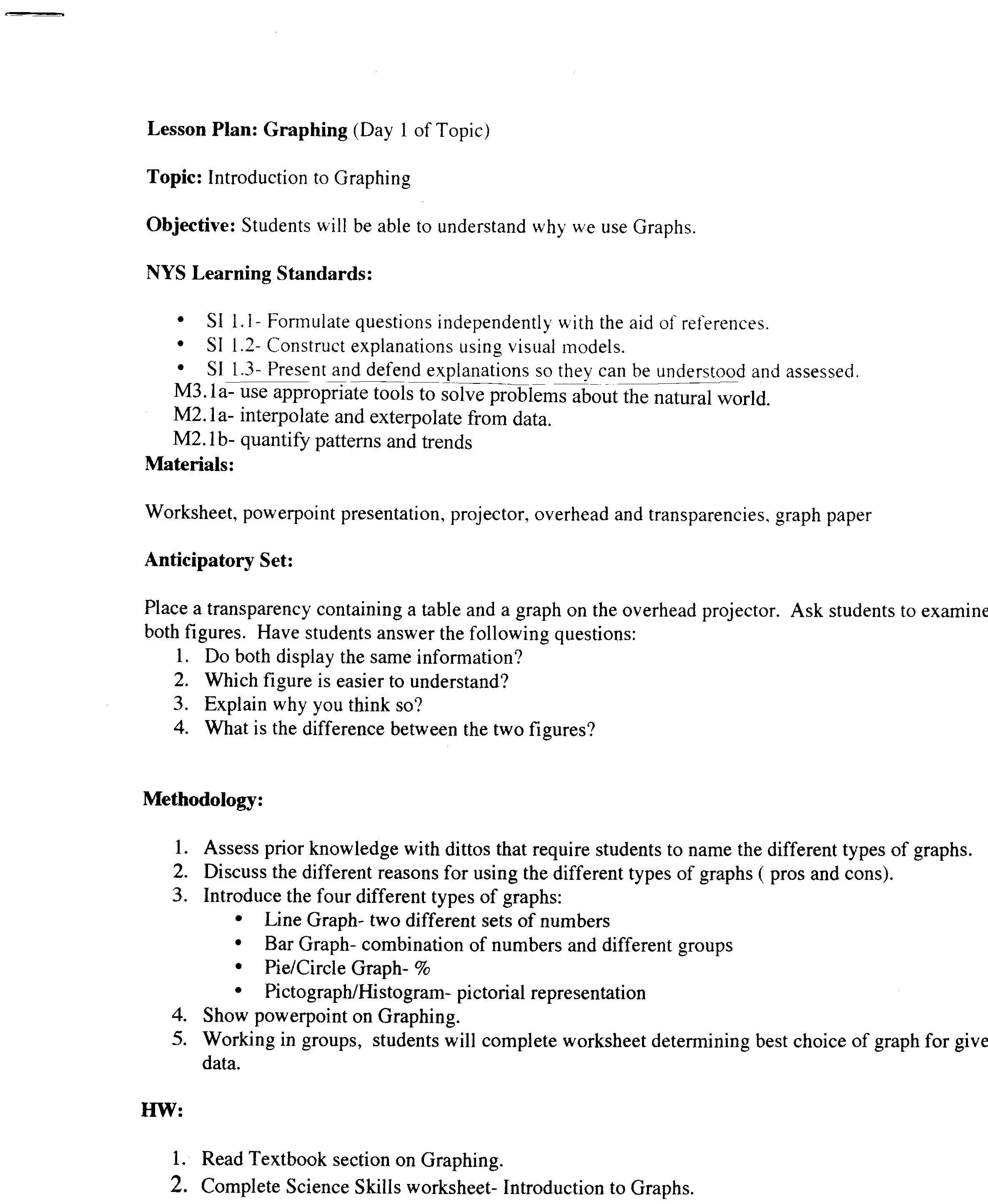 Science Skills For Science Skills Worksheet Answer Key
