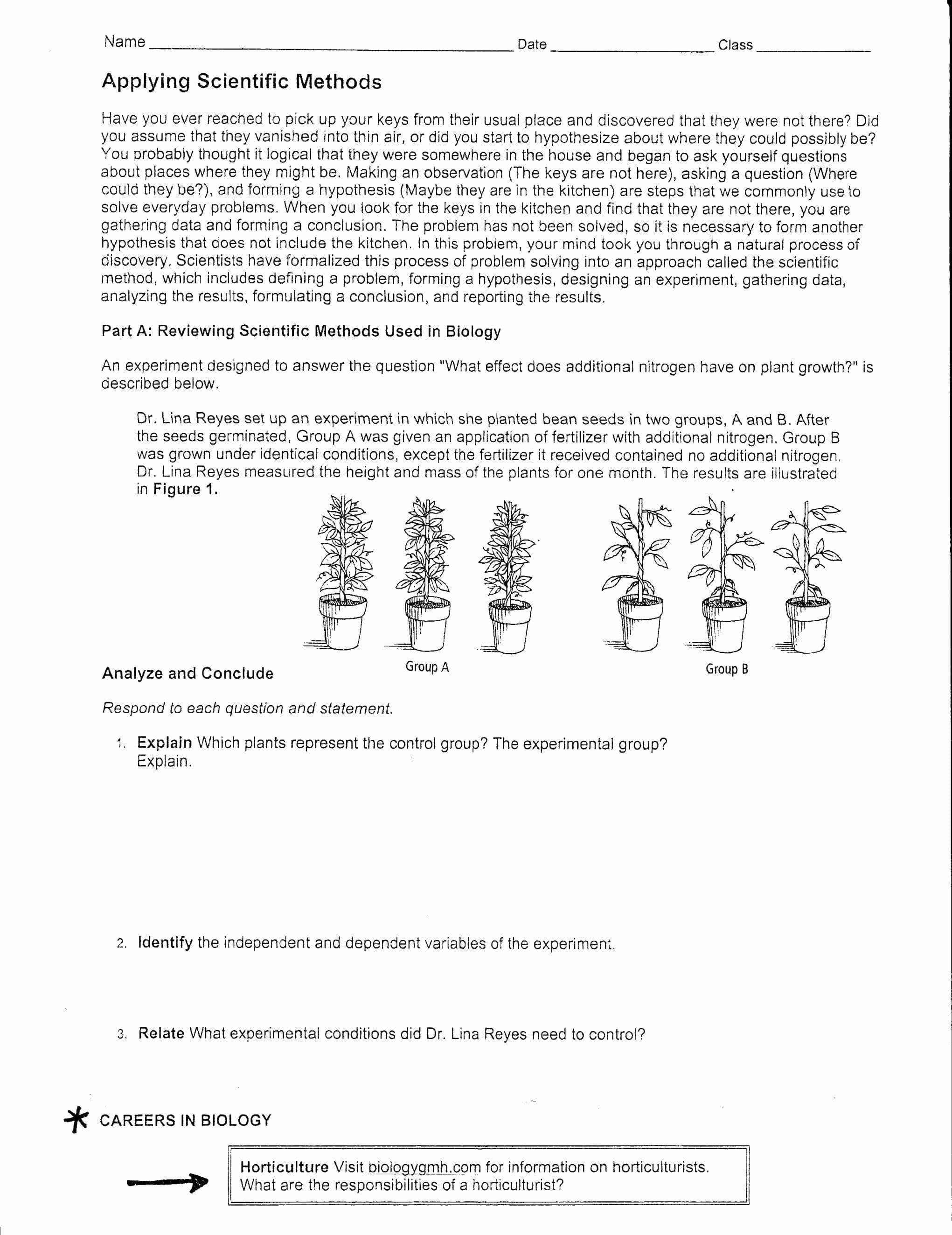 Scientific Method Practice Worksheet  Yooob With Regard To Scientific Method Worksheet High School