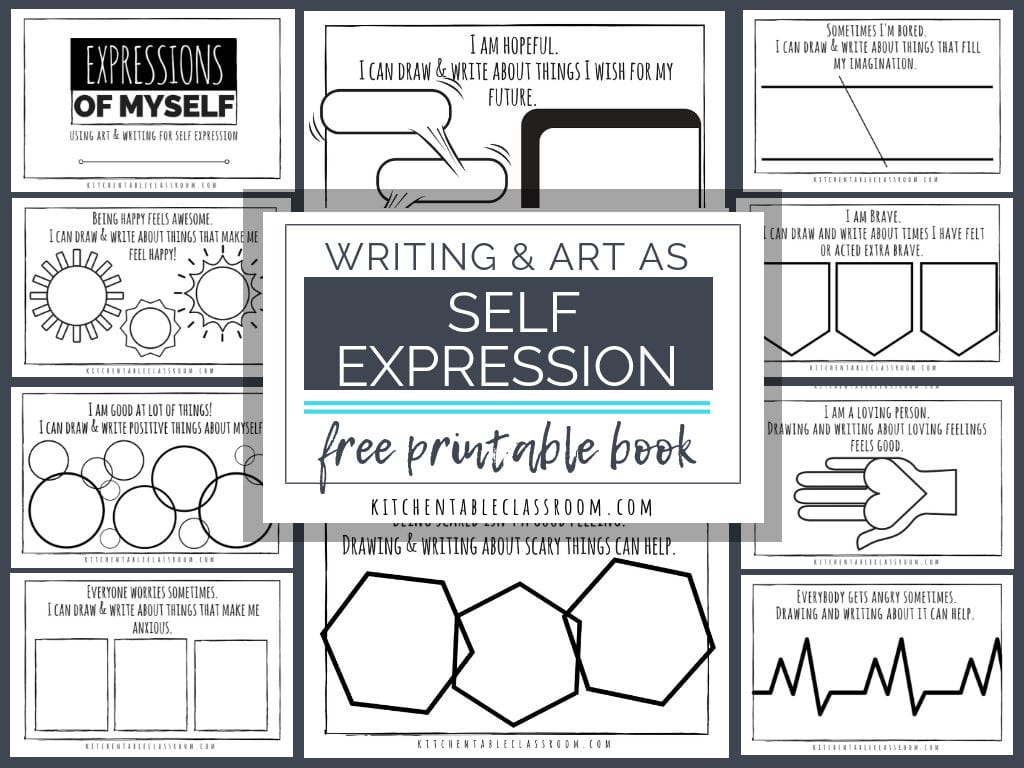 Self Expression Through Writing  Art Free Self Esteem Worksheets Pertaining To Self Esteem Worksheets