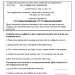 Sentences Worksheets  Compound Sentences Worksheets Throughout Compound And Complex Sentences Worksheet