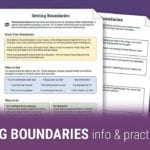 Setting Boundaries Info And Practice Worksheet  Therapist Aid And Boundaries Worksheet Therapy