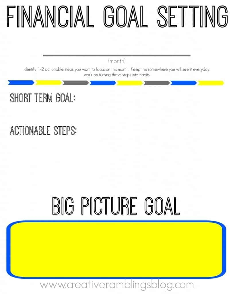 Setting Financial Goals With Free Printable Worksheets  Creative Within Financial Goals Worksheet