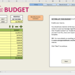 Simple Home Budget Spreadsheet Easy Excel Ate Savvy Spreadsheets For Easy Budget Worksheet