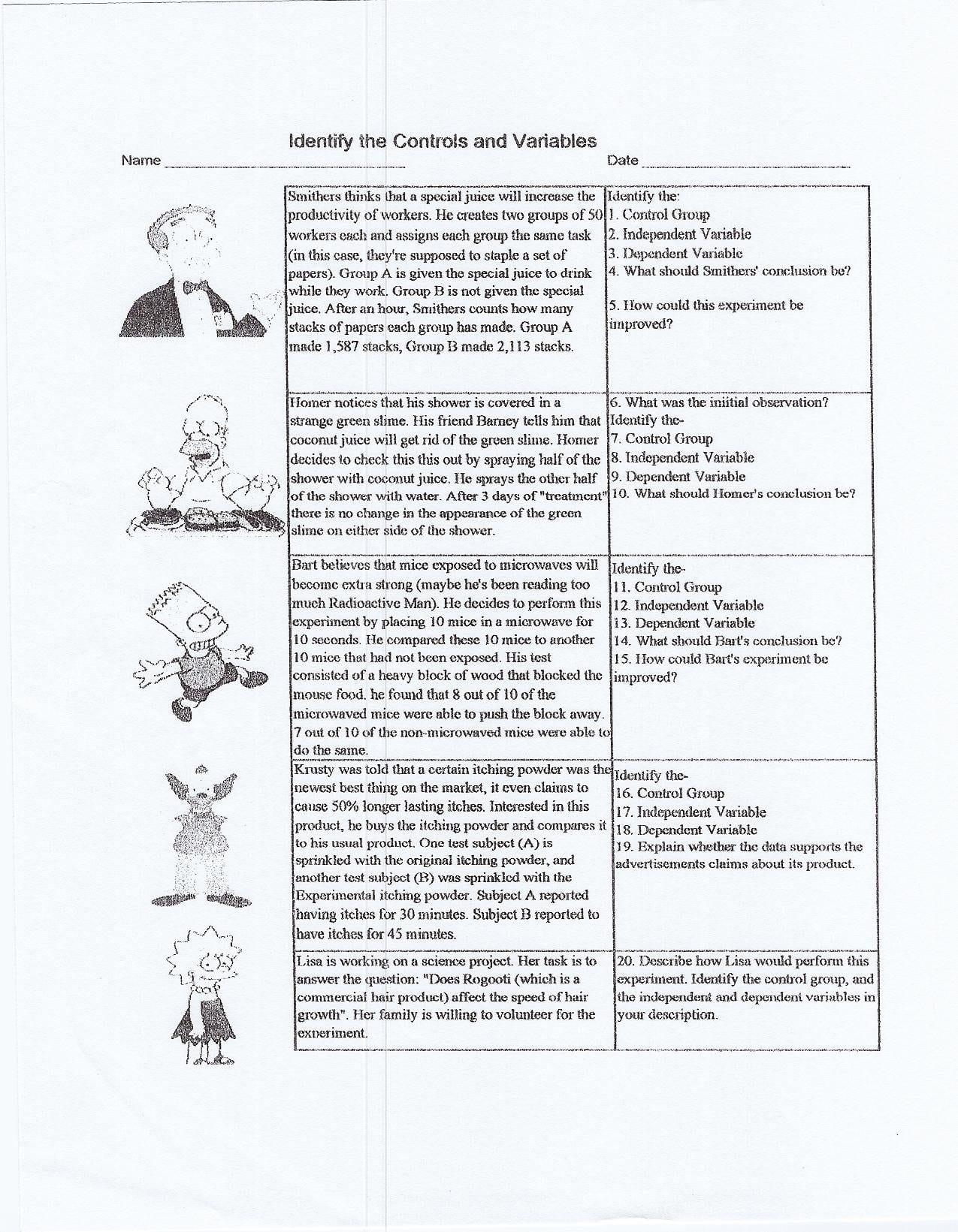 Singhal Seema  Biology And Scientific Method Worksheet High School