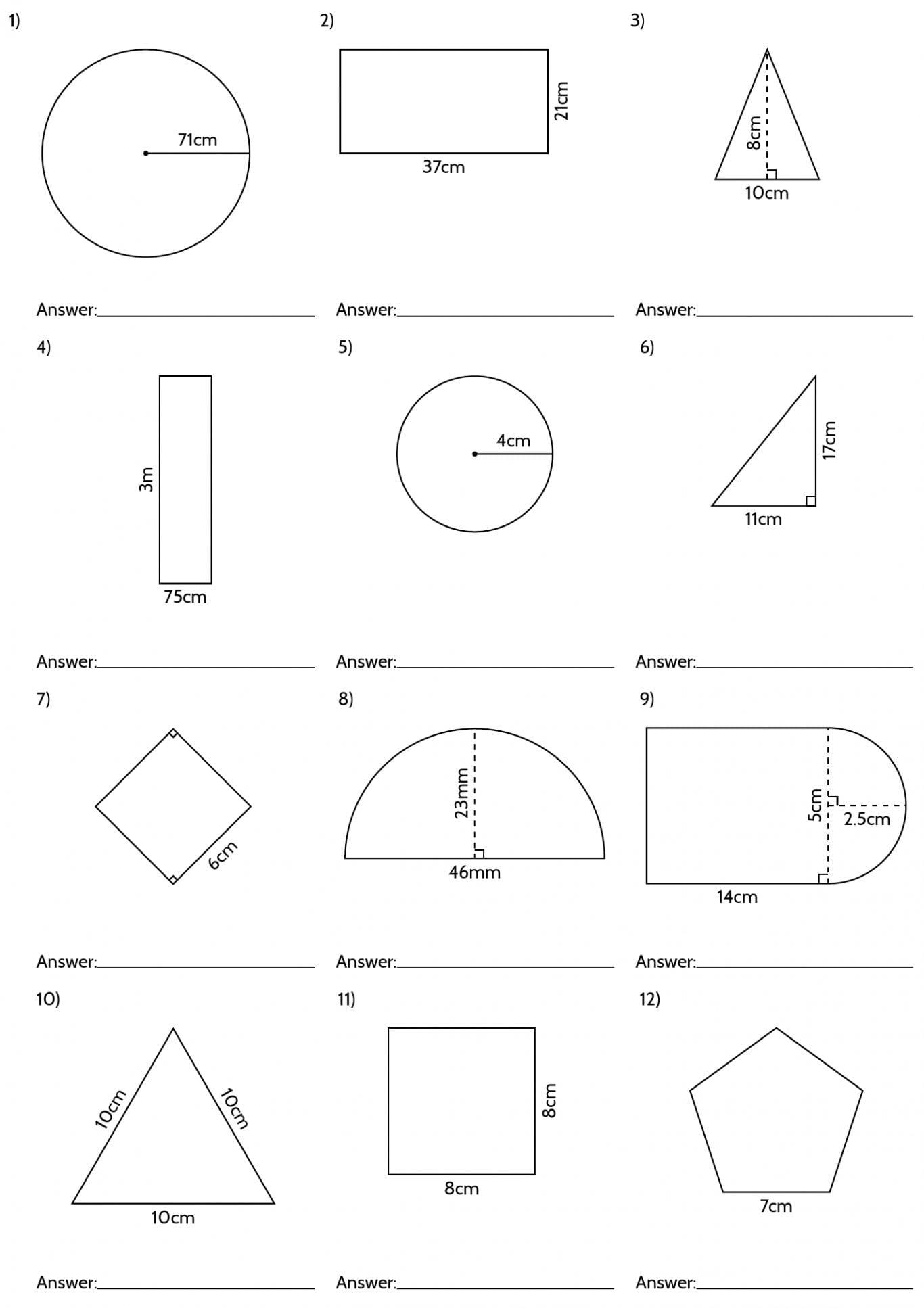 Sixth Grade Geometry Worksheets Free  Justswimfl Regarding 8Th Grade Geometry Worksheets