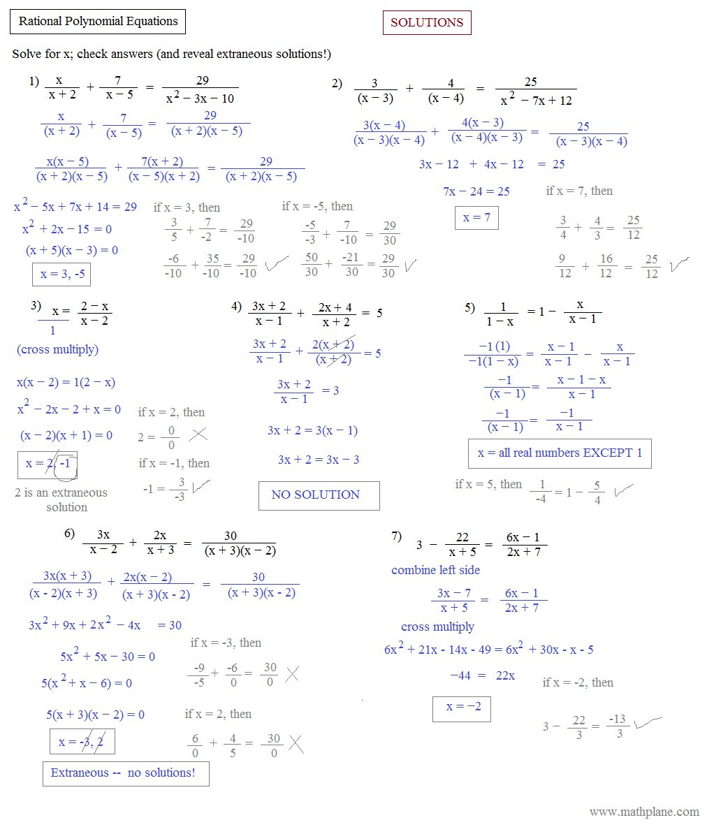 Solving Polynomial Equations Worksheets The Best Worksheets Image For Solving Polynomial Equations Worksheet Answers