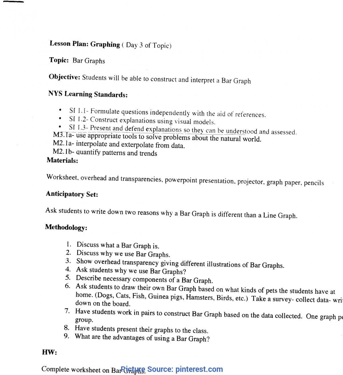 Special Lesson Plan In Science Using Demonstration Method Science Together With Science Skills Worksheet Answer Key