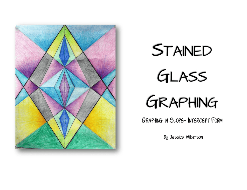 Stained Glass Graphing Regarding Stained Glass Blueprints Math Worksheet