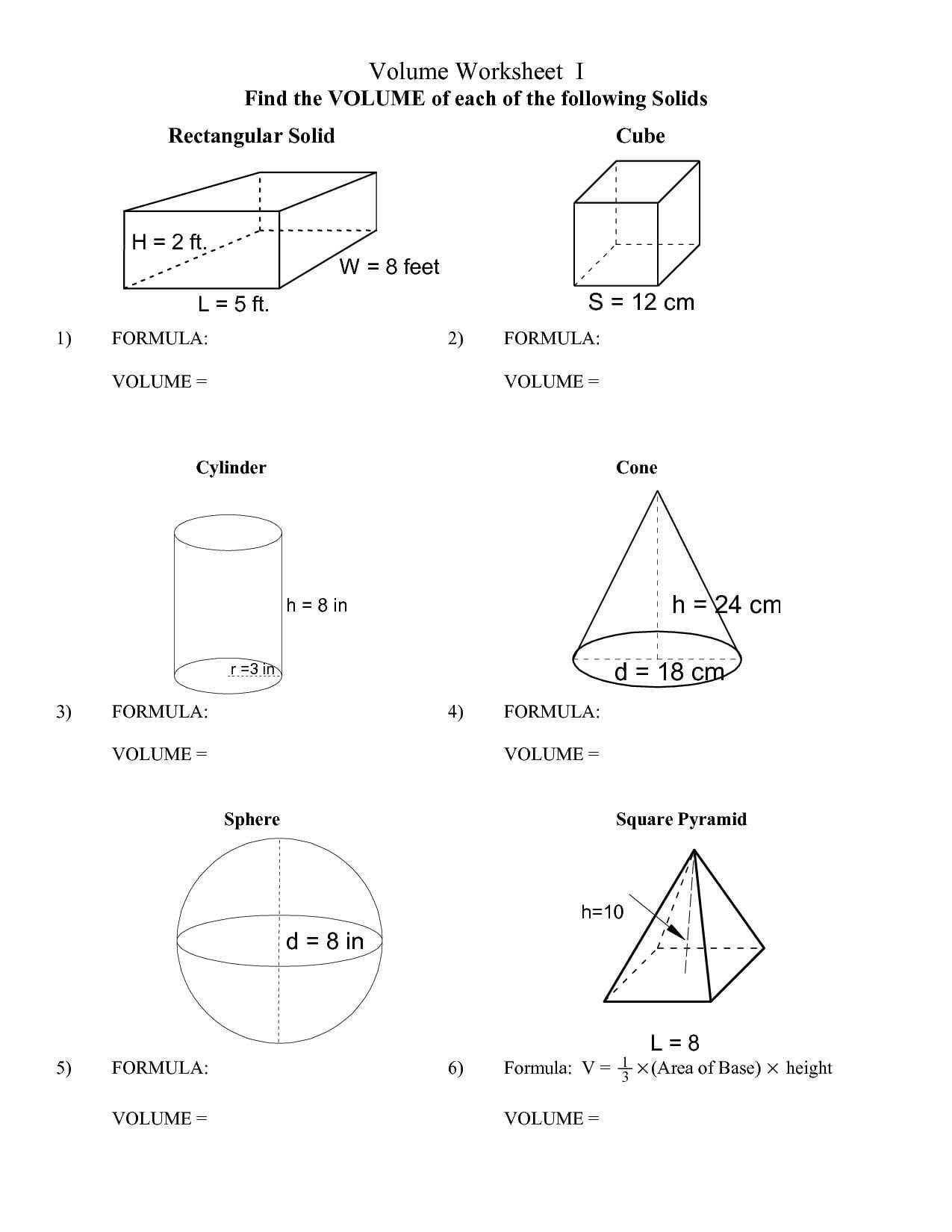 Surface Area Of Prisms And Cylinders Worksheet Answers  Briefencounters Also Surface Area Of Prisms And Cylinders Worksheet Answers