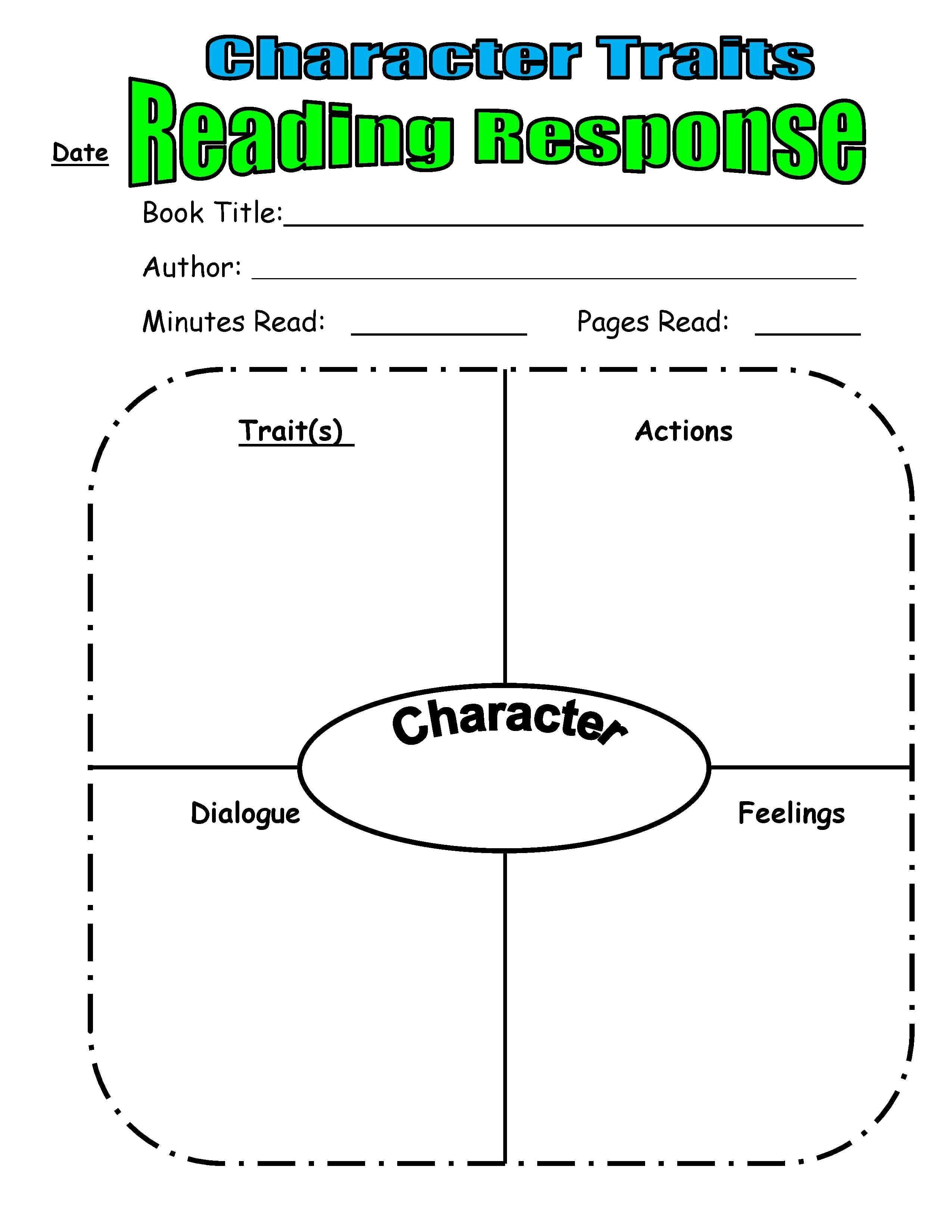 Teaching Character Traits In Reader's Workshop  Scholastic In Character Traits Worksheet 3Rd Grade