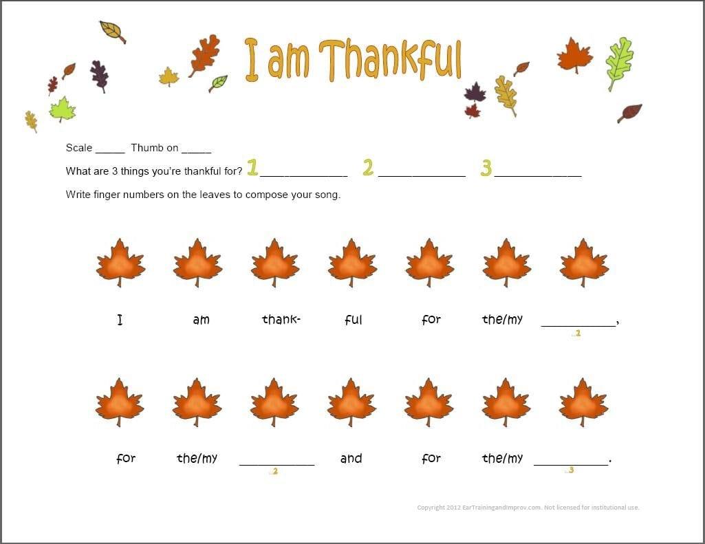 Thanksgiving Music Worksheets  9 Fun Free Printables For Kids Or Thanksgiving Worksheets For Preschoolers
