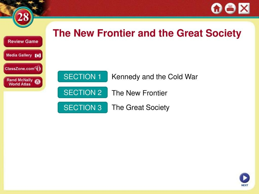 The New Frontier And The Great Society  Ppt Download For The New Frontier And The Great Society Worksheet Answers