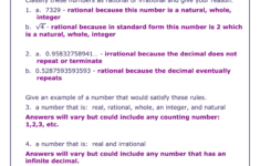 The Rational Number System Worksheet Solutions with regard to The Number System Worksheet