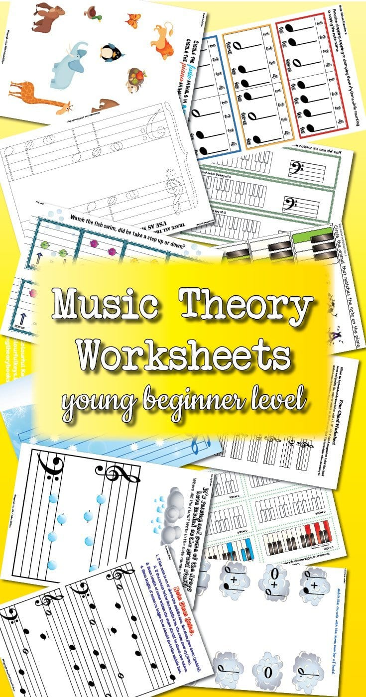 Theory Worksheet Catalogue  Young Beginner  Colourful Keys In Beginner Piano Worksheets