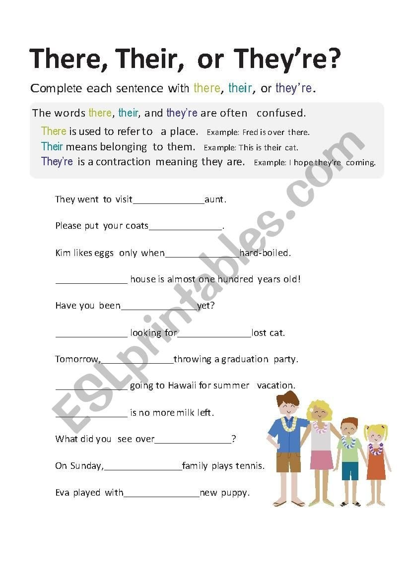 There Their Or They´re  Esl Worksheetcards As Well As There Their And They Re Worksheet