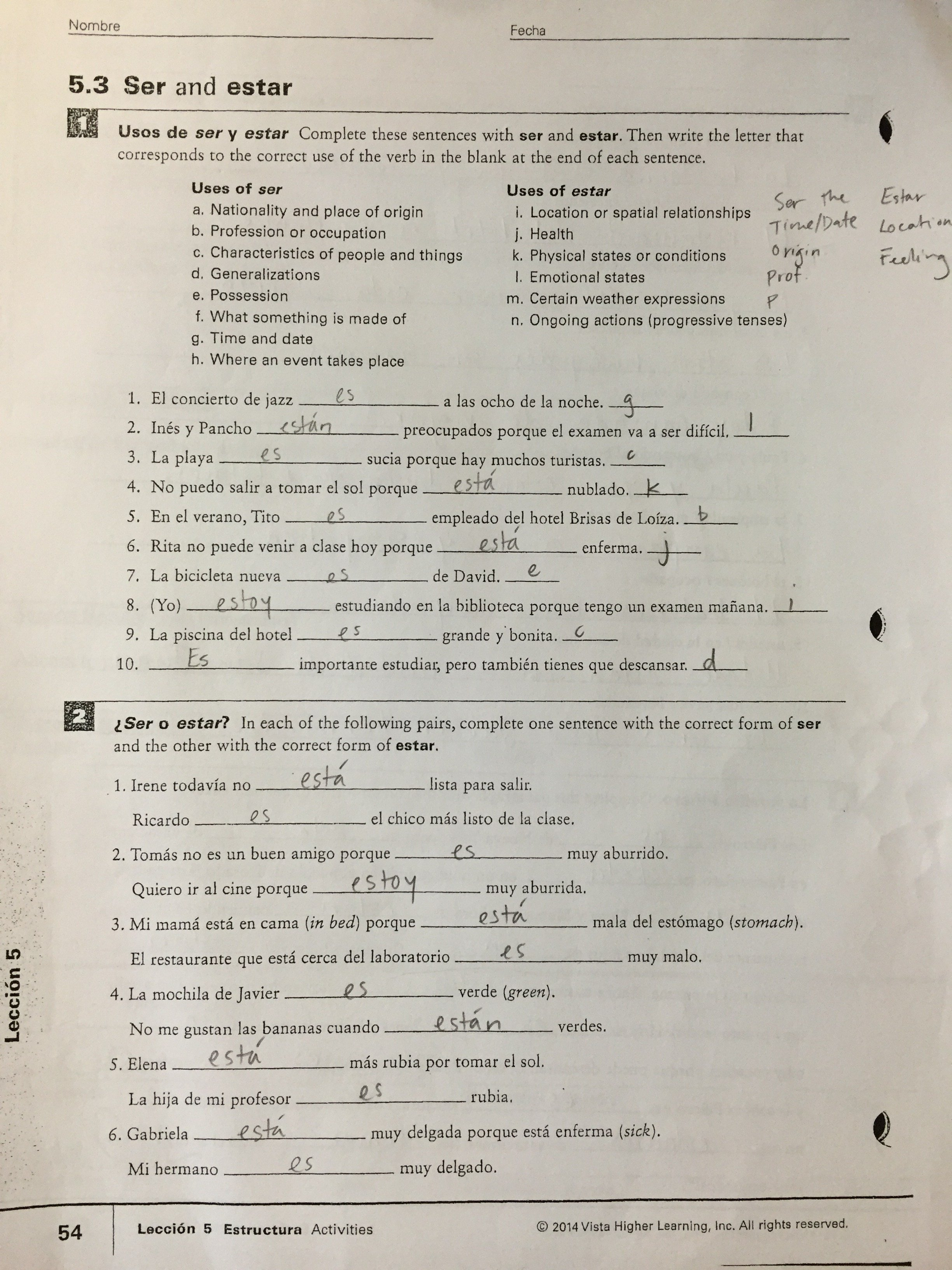 Thurgood Marshall Middle School Along With 2 3 Present Tense Of Estar Worksheet Answers