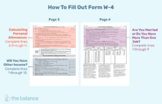 Tips For Calculating Allowances And Preparing Form W4 in Form W 4 Worksheet