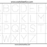 Traceable Alphabet Templates  Alieninsider For Free Printable Tracing Alphabet Worksheets