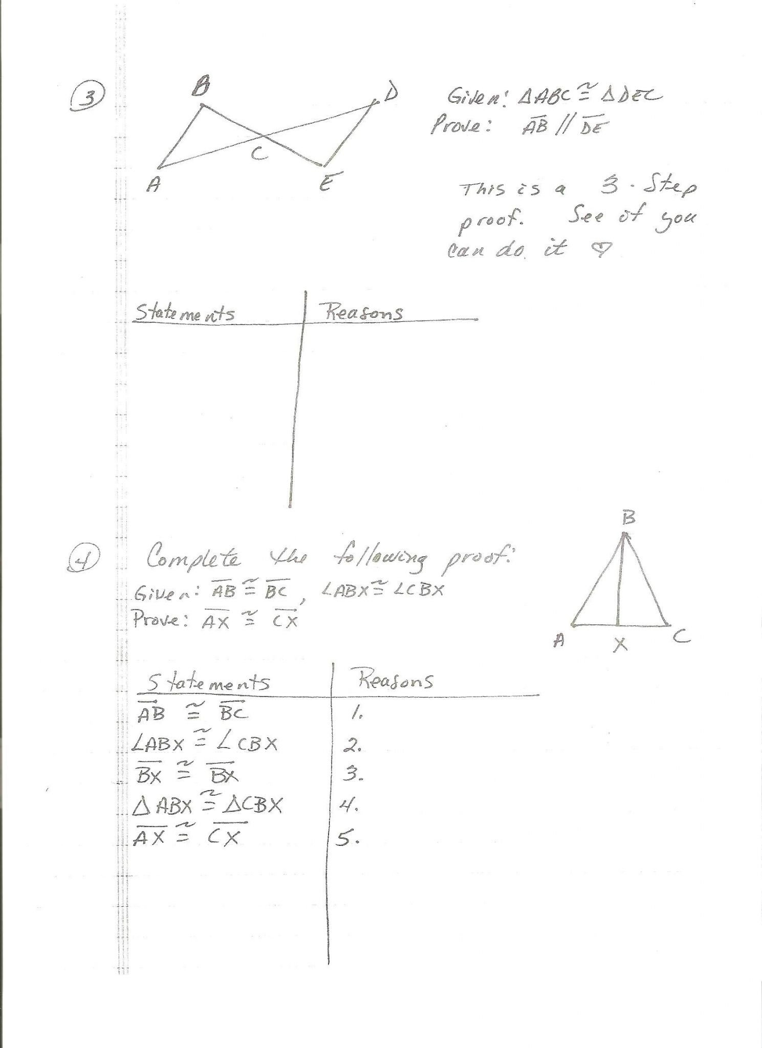 Triangle Congruence Worksheet 1 Answer Key  Briefencounters Together With Proofs Worksheet 1 Answers