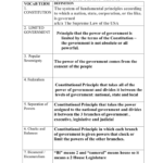 Unit 2 – Vocabulary Terms Together With Constitutional Principles Worksheet Answers