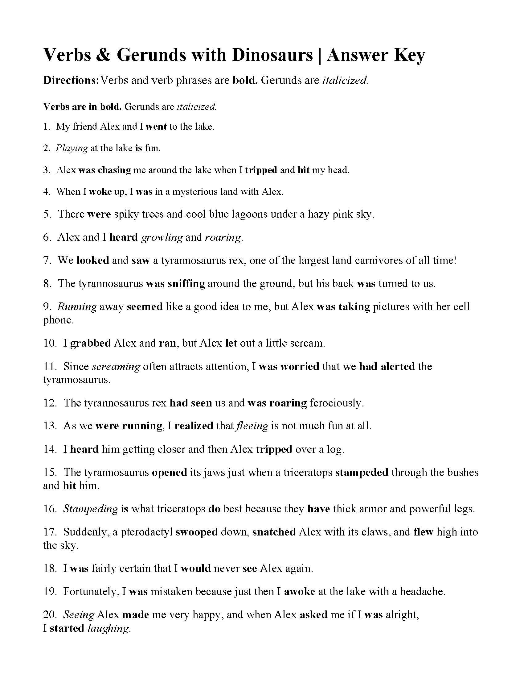 Verbs Verbs Of Being And Gerunds Worksheet  Answers And Has Have Had Worksheets With Answer