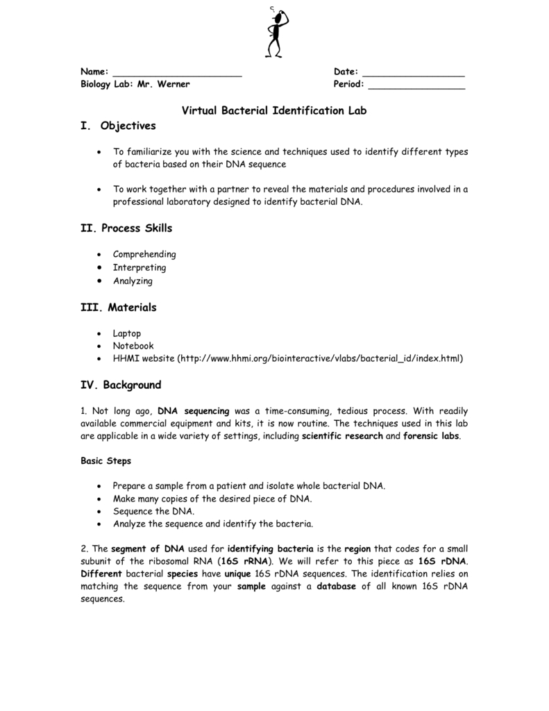 Virtual Bacterial Identification Introduction As Well As Bacterial Identification Lab Worksheet Answers