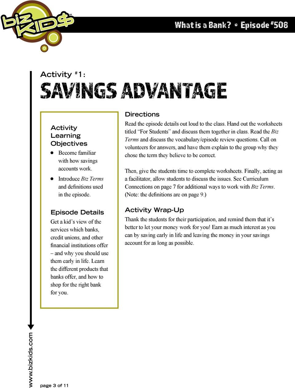 What Is A Bank Episode  Pdf For Banks Credit And The Economy Worksheet Answers