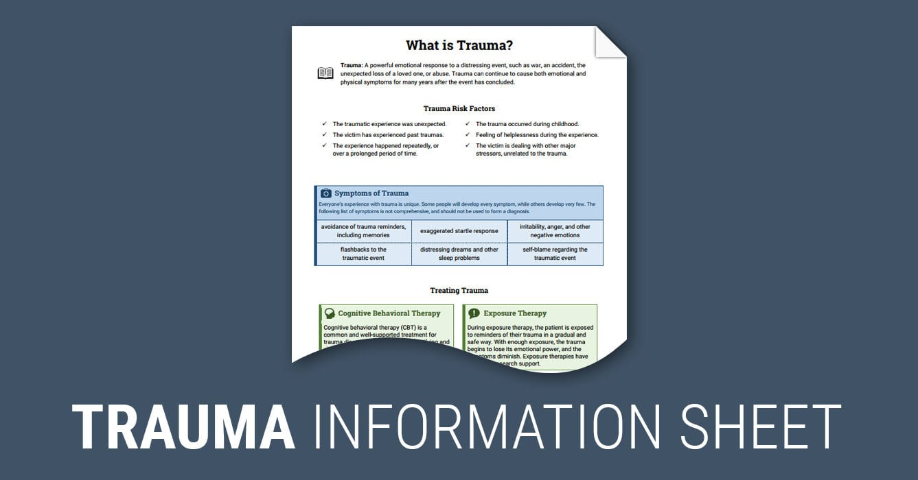 What Is Trauma Worksheet  Therapist Aid Throughout Trauma Worksheets Therapy